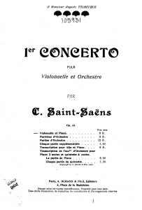 Saint-Saens Cello Concerto Complete