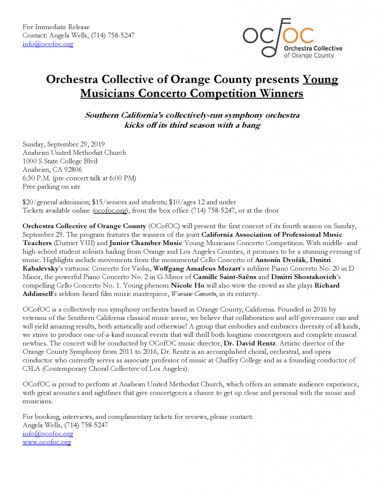 OCofOC press release Sept 2019