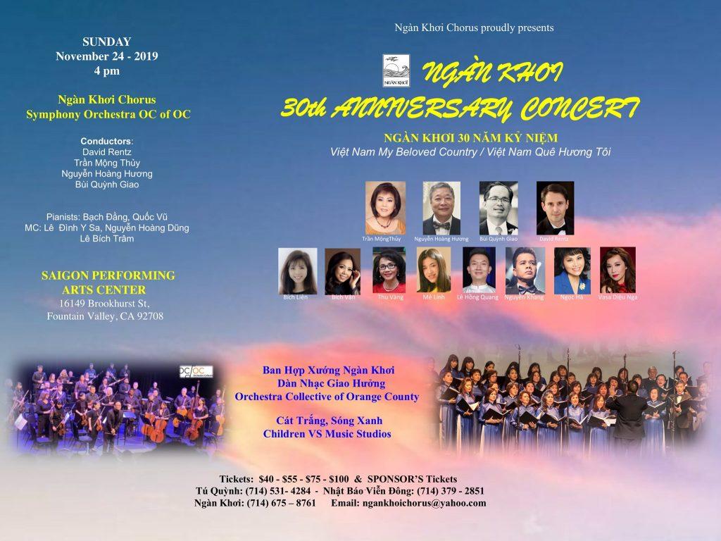 Ngan Khoi Chorus Concert Flyer - 11-24-19
